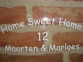 Familienaam Home sweet Home