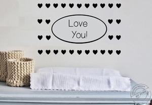 Muursticker Love you!
