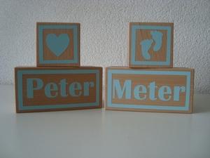 Houten blokken peter en meter