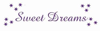 Muursticker Sweet dreams sterren