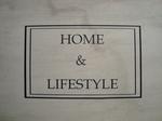 Decoratiesticker Home met kader