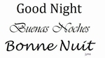 Muursticker Good Night in 3 talen