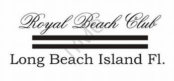 Decoratiesticker Royal Beach Club
