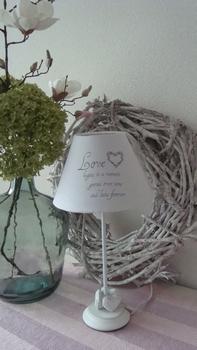 Houten lampekapvoet hart