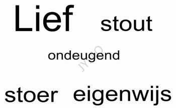 Muursticker Lief...stout