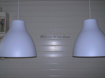 Decoratiesticker Welcome to our home
