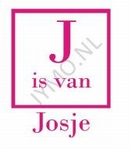 Naamsticker de J is van