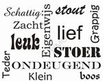 Muursticker leuk verschillende lettertypes