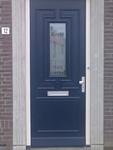Glassticker voordeur