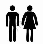 Symbool Dames heren Toilet