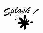 Decoratiesticker Splash