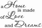 Interieursticker A home is made