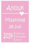 Tekstbord Anouk