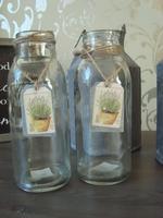 Flesje met lavendel label
