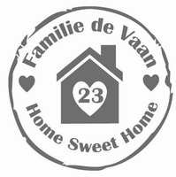 Stempelsticker home sweet home